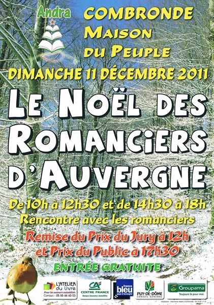 Affiche du Noël des Romanciers d'Auvergne 2011