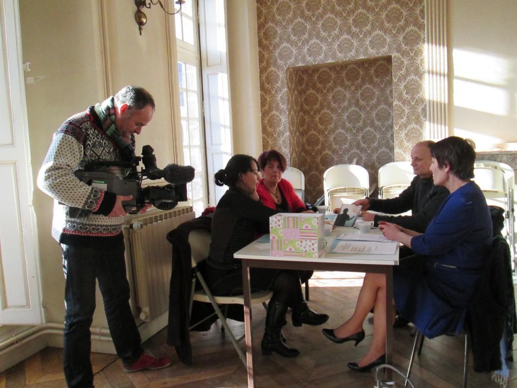 Les membres du Jury sous la caméra de France 3 Auvergne