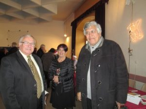 Daniel Reboul président de la communauté de communes Sioule, Colettes et Bouble et Pierre Teriitheau maire d'Ebreuil