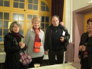 Annie Delic, vice-présidente de l'Andra et Bernard Favodon, sans qui le salon du livre de Combronde n'aurait pas eu lieu... Merci.